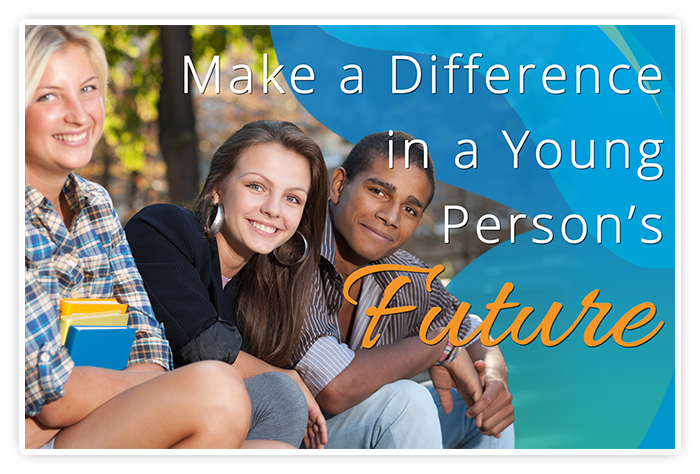JGroup of youth captioned: Make a difference